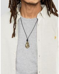 Seven London - Seven Stone Cord Necklace In Black Exclusive To Asos for Men - Lyst