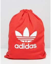 Adidas Originals | Red Adidas Tricot Drawstring Backpack for Men | Lyst
