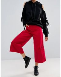 ASOS | Pocket Hem Skater Jean In Bright Red | Lyst