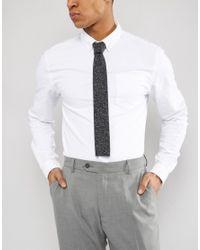 Noak - Blue Square Tie In Marl for Men - Lyst