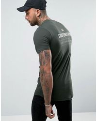 Good For Nothing | Green Muscle T-shirt In Khaki With Back Print for Men | Lyst