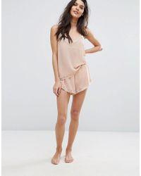 Y.A.S | Pink Chiffon Shorts | Lyst