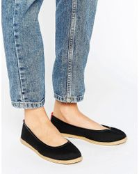 ALDO | Black Flat Contrast Shoes | Lyst
