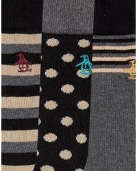 Original Penguin - Multicolor 3 Pack Sock Gift Set for Men - Lyst
