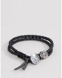 Icon Brand - Double Woven Wrap Bracelet In Black for Men - Lyst