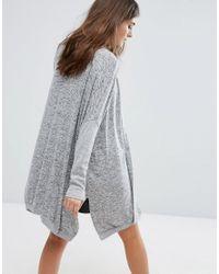 Pull&Bear - Gray Jersey Marl Cardigan - Lyst