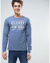 Tommy Hilfiger | Blue Large Logo T-shirt for Men | Lyst