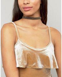 Ashiana   Metallic Braid Chain Choker   Lyst