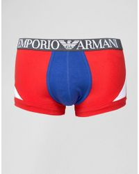 Emporio Armani - Red Trunks for Men - Lyst
