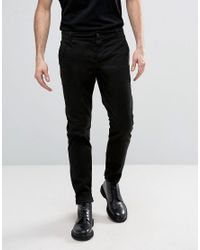 AllSaints | Black Slim Fit Chino for Men | Lyst
