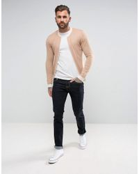 ASOS - Knitted Bomber Jacket In Dusty Pink for Men - Lyst