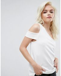 ASOS - Multicolor Top In Ponte With One Shoulder Tab - Lyst