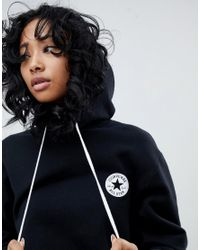 Converse - Blue Hoodie With Back Print In Black - Lyst