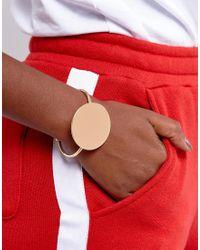 ASOS | Metallic Sleek Solid Circle Cuff Bracelet | Lyst