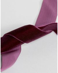 ASOS - Multicolor Premium Jewel Choker Necklace With Velvet Tie - Lyst