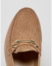 KG by Kurt Geiger Brown Kg By Kurt Geiger Woven Loafers for men