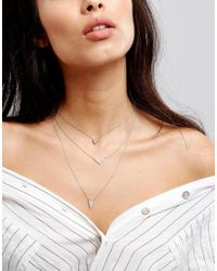 ALDO - Metallic Aligodia Layered Necklace - Lyst