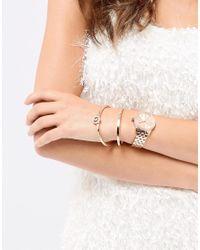 Michael Kors - Metallic Mk3744 Ritz Bracelet & Watch Gift Set In Rose Gold - Lyst