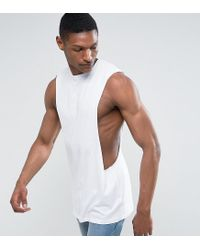 5fe5b0d3b5386 Men s Tall Longline Sleeveless T-shirt With Extreme Dropped Armhole ...