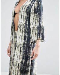 ASOS - Multicolor Beach Caftan In Tie Dye Print - Lyst