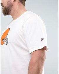 KTZ - Plus Nfl Cleveland Browns T-shirt In White for Men - Lyst