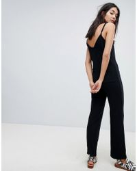 NYTT - Black Aubrey Cami Strap Jumpsuit - Lyst