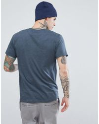 Marmot - Blue Linear Box Logo T-shirt In Navy Marl for Men - Lyst