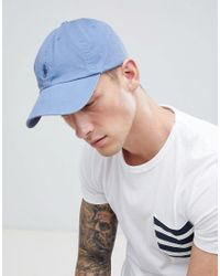 98dc03b0b0b Polo Ralph Lauren Player Logo Baseball Cap In Light Blue in Blue for ...