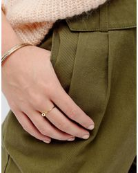 ASOS | Metallic Gold Plated Sterling Silver Ball Ring | Lyst