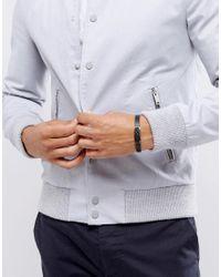 Emporio Armani - Leather Bracelet In Black for Men - Lyst