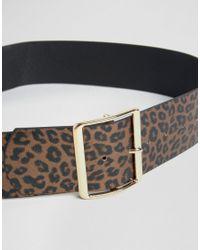 ASOS - Black Wide 80's Animal Waist Belt - Lyst