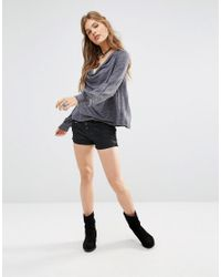 Free People | Black Lone Ranger Denim Shorts | Lyst