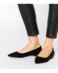 ASOS | Black Lost Pointed Ballet Flats | Lyst