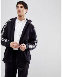 Men's Adicolor Fleece Track Jacket In Oversized Fit In Black Cy3541