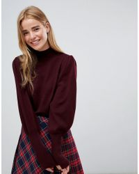 ASOS - Red Asos Jumper With Full Sleeves And Roll Neck - Lyst