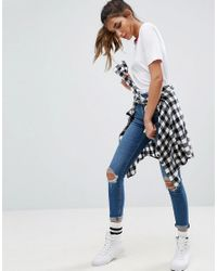 ASOS - White T-shirt With Tipped Detail - Lyst