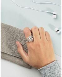 Pilgrim - Metallic Silver Plated Orb Ring - Lyst