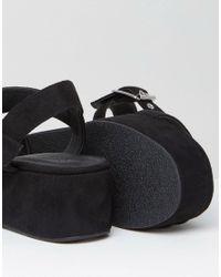 ASOS - Black Toucan Wedge Sandals - Lyst