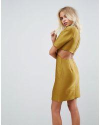 ASOS - Green Two Piece Grown On Neck Mini Dress - Lyst