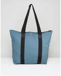 Rains - Green Small Tote Bag In Pacific for Men - Lyst