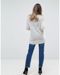 New Look - Gray Maternity Knitted Jumper - Lyst