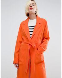 ASOS - Orange Soft Drape Kimono - Lyst