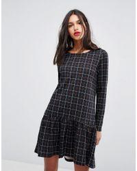 272247b97 Vero Moda. Women's Check Print Frill Hem Mini Dress