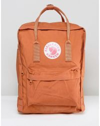 Fjallraven Orange Kanken Backpack In Brick 16l for men