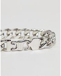 Fred Bennett - Metallic Silver Curb Chain Bracelet for Men - Lyst