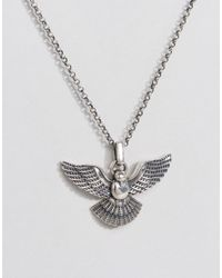 Serge Denimes - Metallic Dove Necklace In Solid Silver for Men - Lyst
