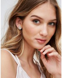 Ted Baker - Metallic Crystal Button Earrings - Lyst