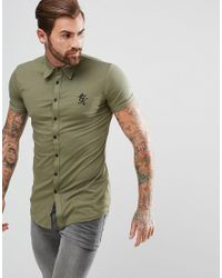 3d16920a Gym King Muscle Shirt In Khaki in Green for Men - Lyst