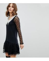 Anna Sui - Black Exclusive Lace Dress - Lyst