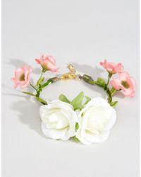 ASOS | Green Wedding Flower Corsage Bracelet - Cream | Lyst